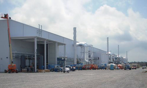 Manufacturing Industry - Carbon Steel Exhaust Stacks - Hoffmann, Inc.