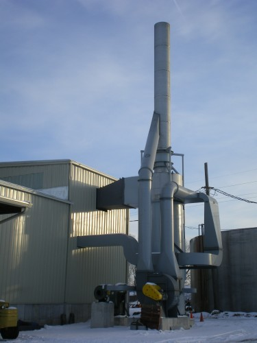 Stainless Steel Exhaust Stack - Processing Industry - Hoffmann, Inc.